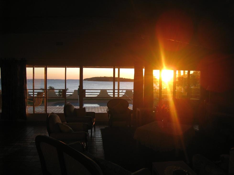 Lake Cariba sunrise